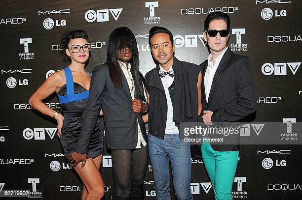 Fritz Helder and the Phantoms attend the MAC GOLD FEVER AFTER PARTY at the Chum/City TV Building on September 7 2008 in Toronto Canada