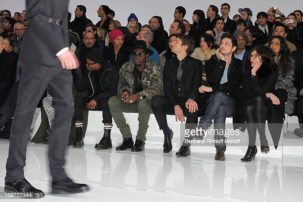 Fritz Helder of the band Azari III Theophilus London Benn Northover Jeremie Elkaim and Valerie Donzelli attend the Dior Homme Men Autumn / Winter...