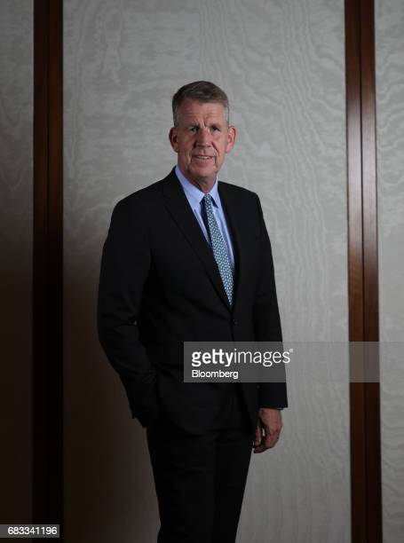 Fritz Joussen, chief executive officer of TUI AG, poses for a photograph following a Bloomberg Television interview in London, U.K., on Monday, May...