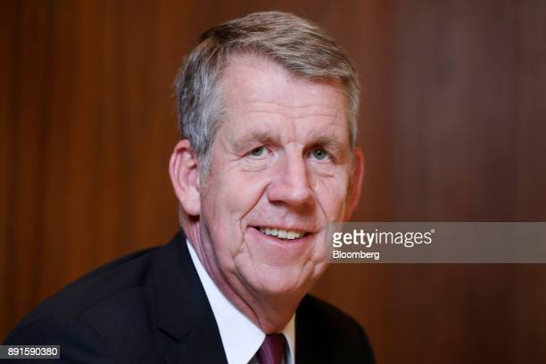 Fritz Joussen chief executive officer of TUI AG poses for a photograph following a Bloomberg Television interview in London UK on Wednesday Dec 13...