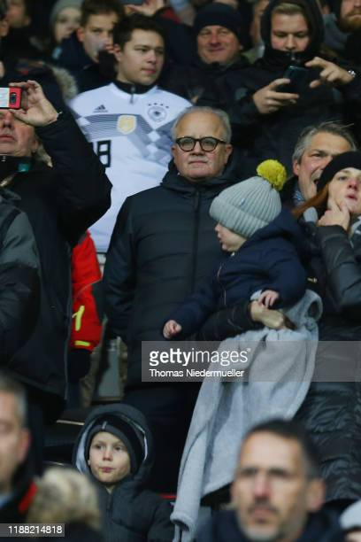 Fritz Keller, president of the DFB looks on during the UEFA Under 21 European Qualifier between Germany U21 and Belgium U21 at Schwarzwald-Stadion on...