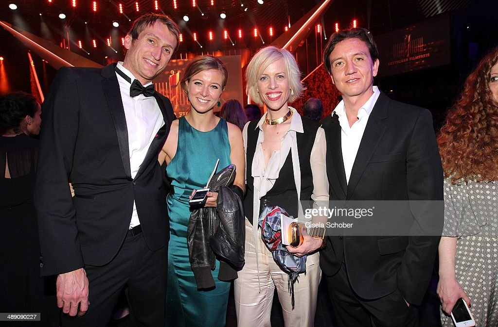 Fritz Meinikat, Nina Eichinger, Katja Eichinger and Anthony James attend the Lola - German Film Award 2014 - After party at Tempodrom on May 9, 2014 in Berlin, Germany
