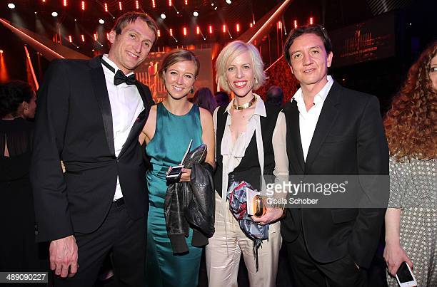 Fritz Meinikat Nina Eichinger Katja Eichinger and Anthony James attend the Lola German Film Award 2014 After party at Tempodrom on May 9 2014 in...
