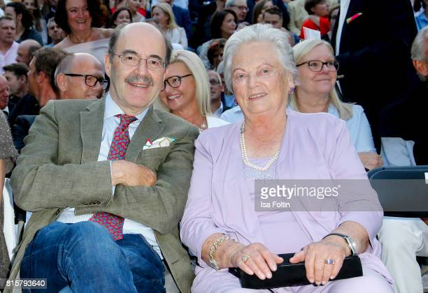 Fritz von Thurn und Taxis and Antonia von Thurn und Taxis during the Ronan Keating concert at the Thurn Taxis Castle Festival 2017 on July 16 2017 in...