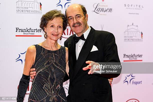 Fritz von Thurn und Taxis and his wife Beata Bery are seen during the German Sports Media Ball at Alte Oper on November 5 2016 in Frankfurt am Main...