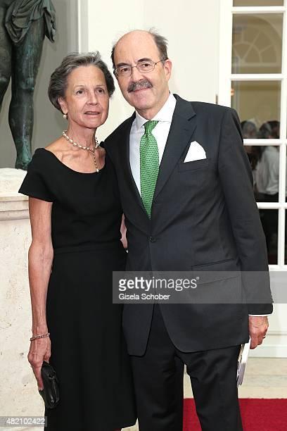 Fritz von Thurn und Taxis and his wife Beatrix von Thurn und Taxis during the 'Die Goldene Deutschland' Gala on July 26 2015 at Cuvillies Theater in...
