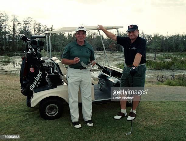 Fritz Wepper Bruder Elmar Golfplatz Palm Beach/Florida/USA/AmerikaUrlaub GolfAuto Golfschläger
