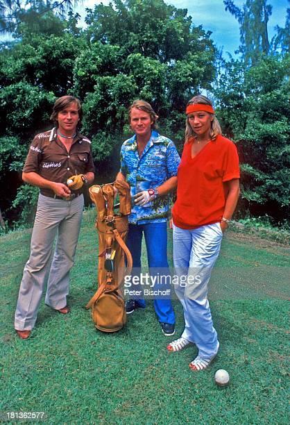 Fritz Wepper Bruder Elmar Wepper Freundin Prinzessin Angela von Hohenzollern Urlaub auf Barbados Barbados Karibik HawaiiHemd golfen Golfspielen...