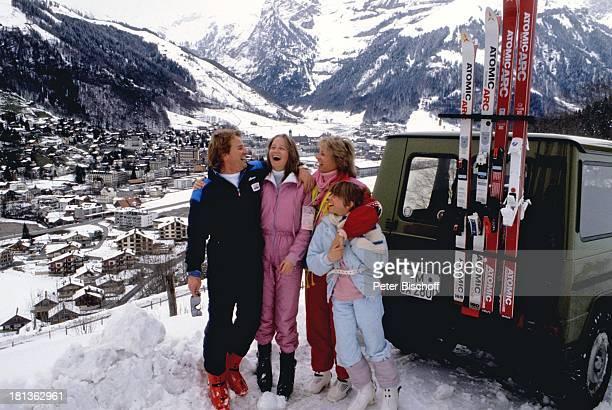 Fritz Wepper Tochter Valerievon Hohenzollern Ehefrau Angela Wepper Tochter Prinzessin Stephanie von Hohenzollern Urlaub in der Schweiz Engelberg...