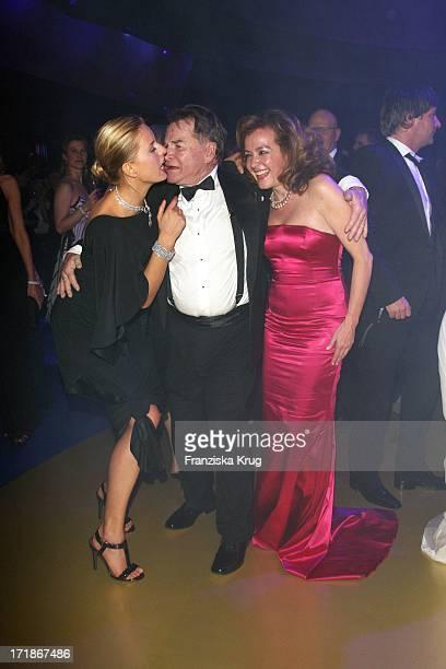"Fritz Wepper With Karolina Kurkova and Caroline Gruosi Scheufele at the 60th ""Bambi"" award In Oberrheinhalle in Offenburg"