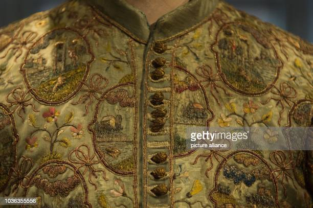 Frock of John George I, Elector of Saxony, is on display in the exhibition 'The Electoral Wardrobe' in the Residential Palace inDresden, Germany, 31...
