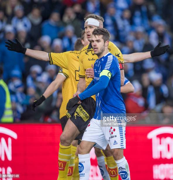Frode Kippe Joachim Thomassen during Norway Cup Final between Sarpsborg 08 v Lillestrom at Ullevaal Stadion on December 3 2017 in Oslo Norway