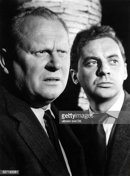 Froebe Gert Schauspieler D mit Harald Juhnke in dem Film 'Das Testament des Dr Mabuse' Regie Werner Klingler' D 1962