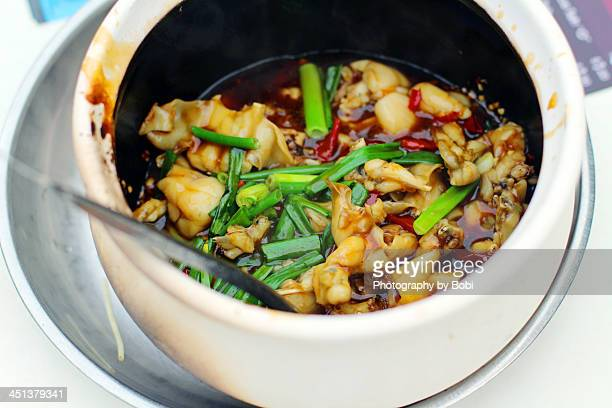 Frog porridge was singapore style food