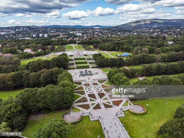 frogner park in oslo - gustav vigeland sculpture park stock pictures, royalty-free photos & images