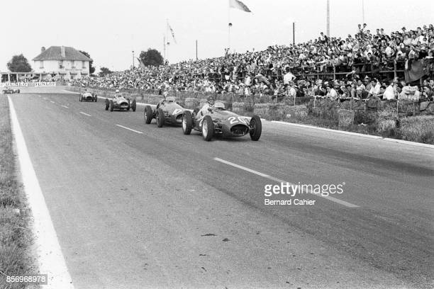 Froilan Gonzalez, Alberto Ascari, Maserati A6GCM, Ferrari 500, Grand Prix of France, Reims-Gueux, 05 July 1953.