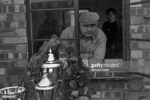 Froilan Gonzalez Grand Prix of Great Britain Silverstone Circuit 17 July 1954 Froilan Gonzalez winner of the 1954 British Grand Prix in Silverstone