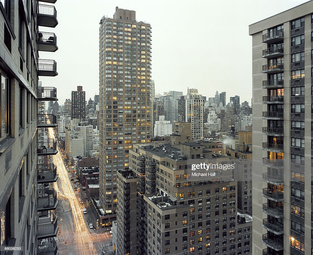 NYC from 1st & 80th looking toward Mid Town : Stock Photo