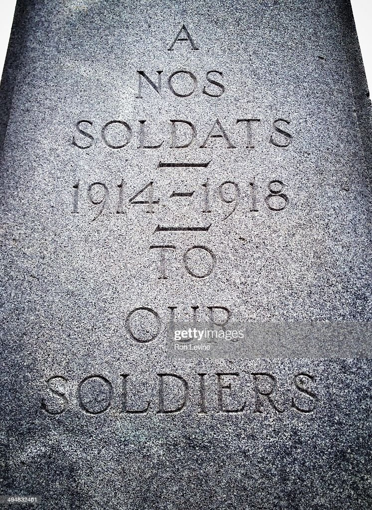 From a WW1 monument in Lachine , Quebec