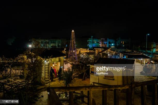 From above the Living Nativity in Palombaio a small hamlet of Bitonto in Puglia on December 28th