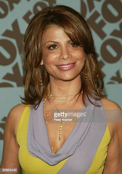 From American Idol Paula Abdul attends the Fox upfront at the Central Park Boathouse on May 19 2005 in New York City