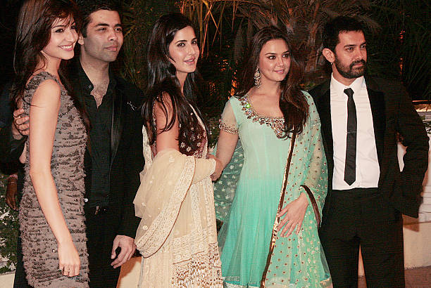 From Anushka Sharma Karan JoharKatrina KaifPreity Zinta and Aamir Khan at Imran Khan and Avantika Malik`s wedding reception party which was organised.