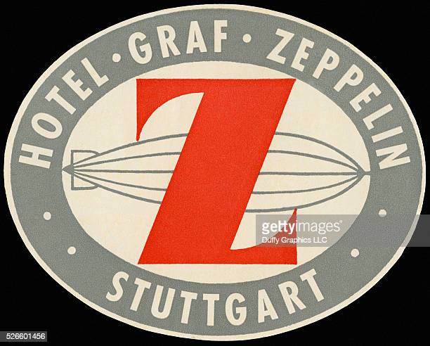 From around 1936 this item is like a small poster used to advertise a hotel and identify luggage showing the famous German rigid airship
