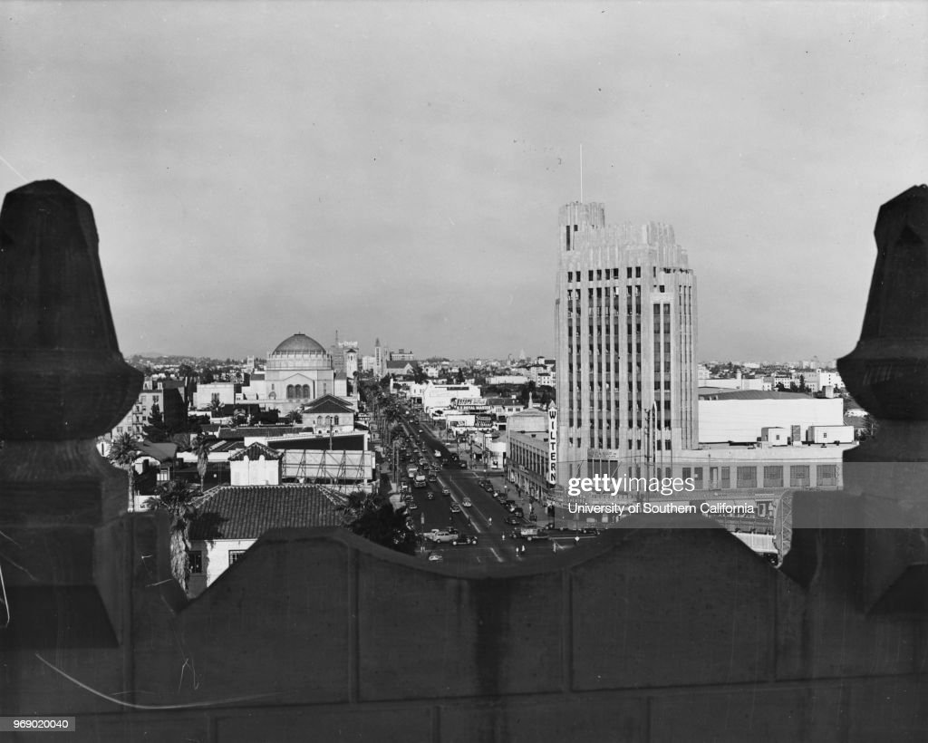 From Atop A Building At Wilshire Boulevard And Manhattan Avenue Facing East  Past The Wiltern Theater