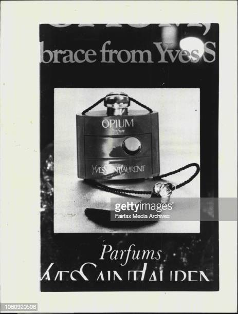 From August issue of Vogue Australia, Magazine, inside page one flap, bottle of 'Opium' perfume.The Queensland Health department has banned a perfume...