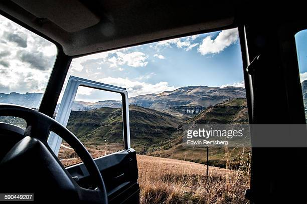 from behind the wheel - lesoto fotografías e imágenes de stock