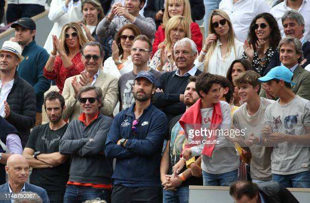 From bottom Rafael Maymo Rafael Nadal's physio his coaches Francisco Roig and Carlos Moya above his PR Benito Perez Barbadillo his father Sebastian...
