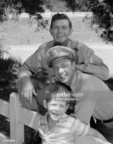 Ron Howard as 'Opie' Taylor Don Knotts as Deputy Barney Fife and Andy Griffith as Sheriff Andy Taylor Image dated August 30 1962 Andy GriffithRon...