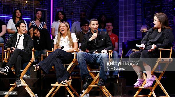 From Degrassi Adamo Ruggiero Lauren Collins Aubrey Graham and Rosie O'Donnell speak at the Spring Awakening and Degrassi panel discussion with Rosie...