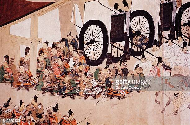 From Heiji Monagatari Emaki Scroll painting 13th century Tokyo National Museum