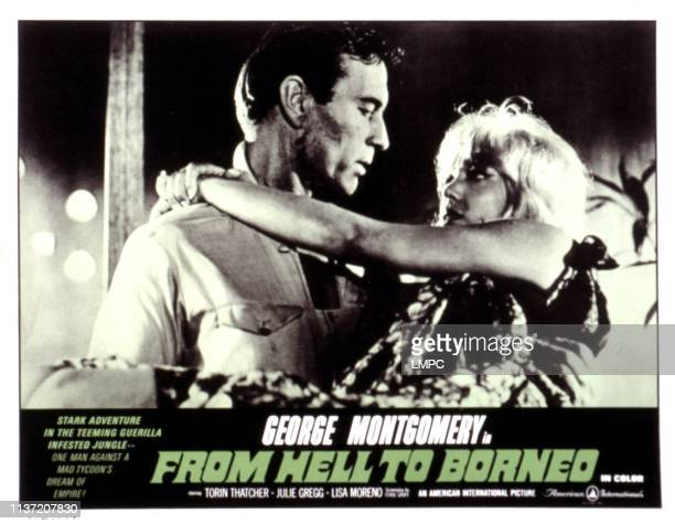 From Hell To Borneo lobbycard George Montgomery Julie Gregg 1966