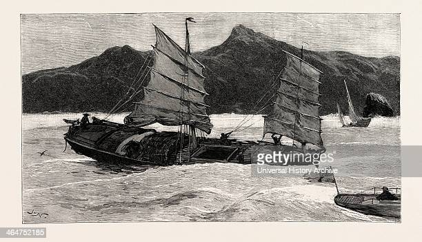 From Hong Kong To Macao In A Torpedo Boat We Leave The Junkers Behind Engraving 1890 Engraved Image History Arkheia Illustrative Technique...