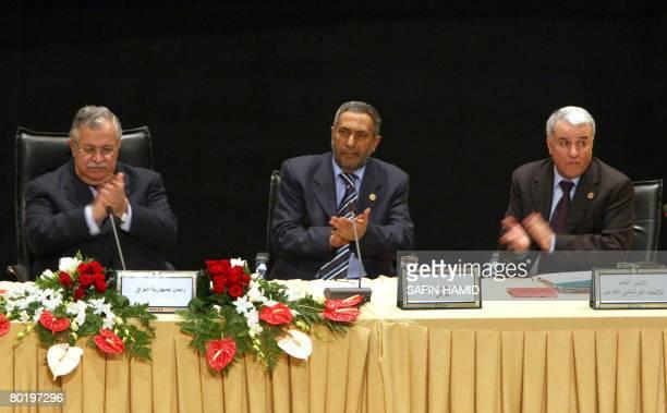 From Iraq's President Jalal Talabani Iraq's Parliament Speaker Mahmud alMashhadani and General Secretary of the Arab Parliamentarian Union Nuraddin...
