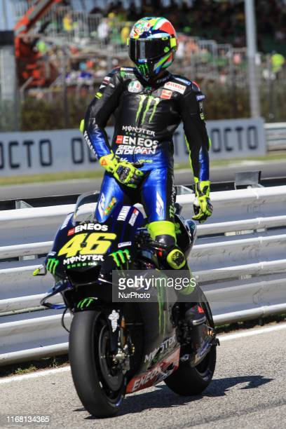 From Italy, Monster Energy Yamaha MotoGP Team, GP Octo di San Marino e della Riviera Romagnola, during the Saturday Qualifying at the Marco...