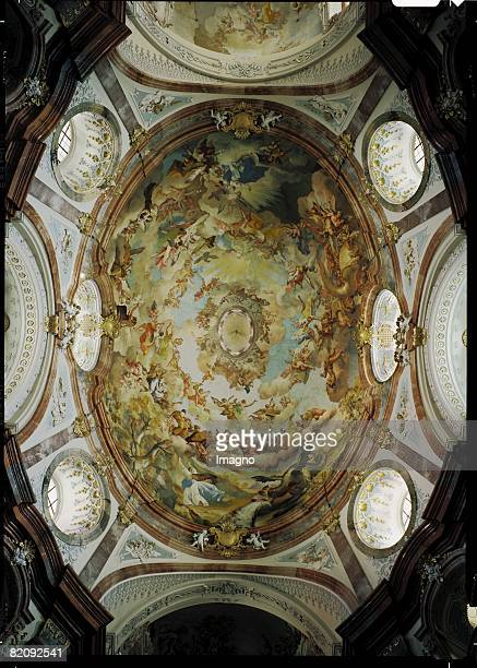 From John's Book of Revelation Baroque fresco by Paul Troger in the main cupola of the Altenburg's collegiate church in the Austrian Waldviertel...