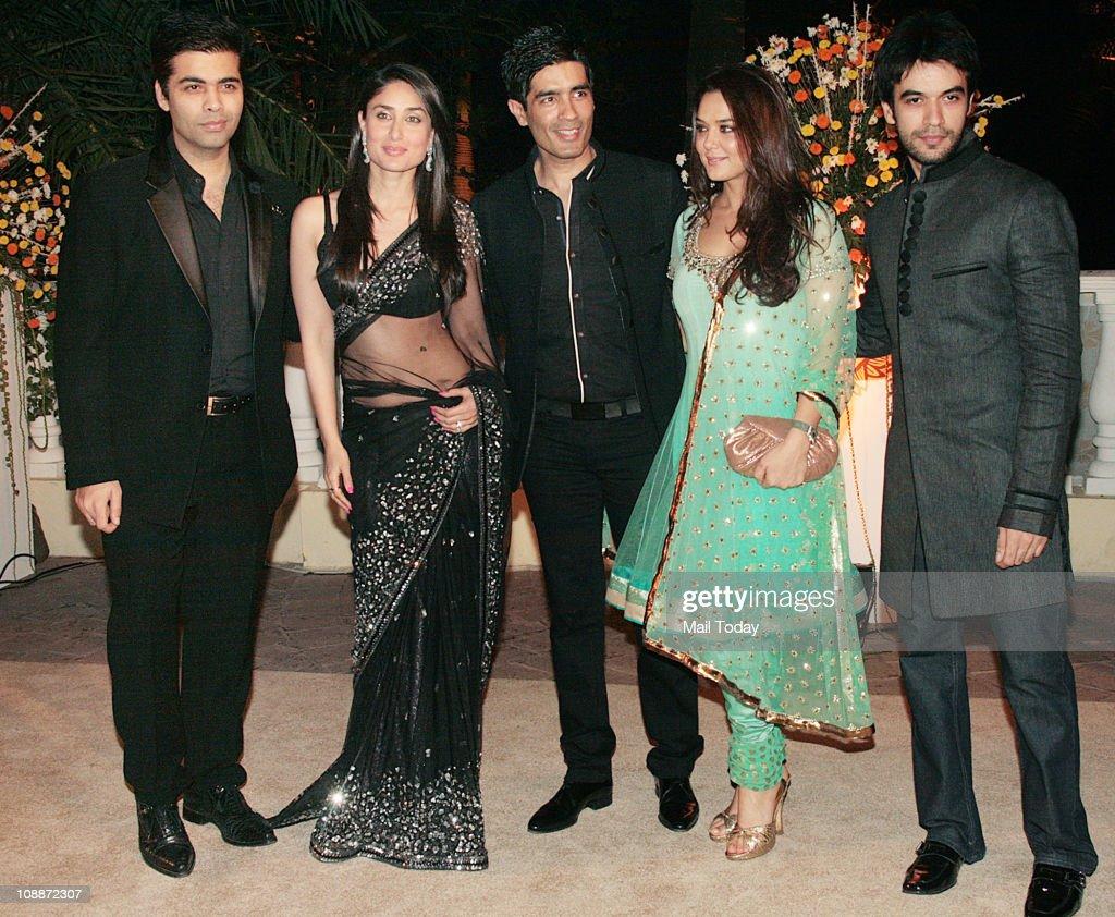 From Karan JoharKareena Kapoor Manish Malhotra Preity Zinta and Punit Malhotra at Imran Khan and Avantika Malik`s wedding reception party which was...