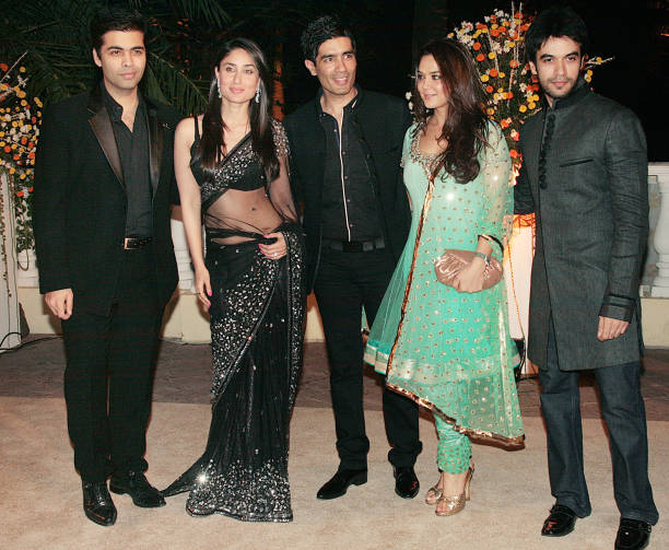 From Karan JoharKareena Kapoor Manish Malhotra Preity Zinta and Punit Malhotra at Imran Khan and Avantika Malik`s wedding reception party which was...