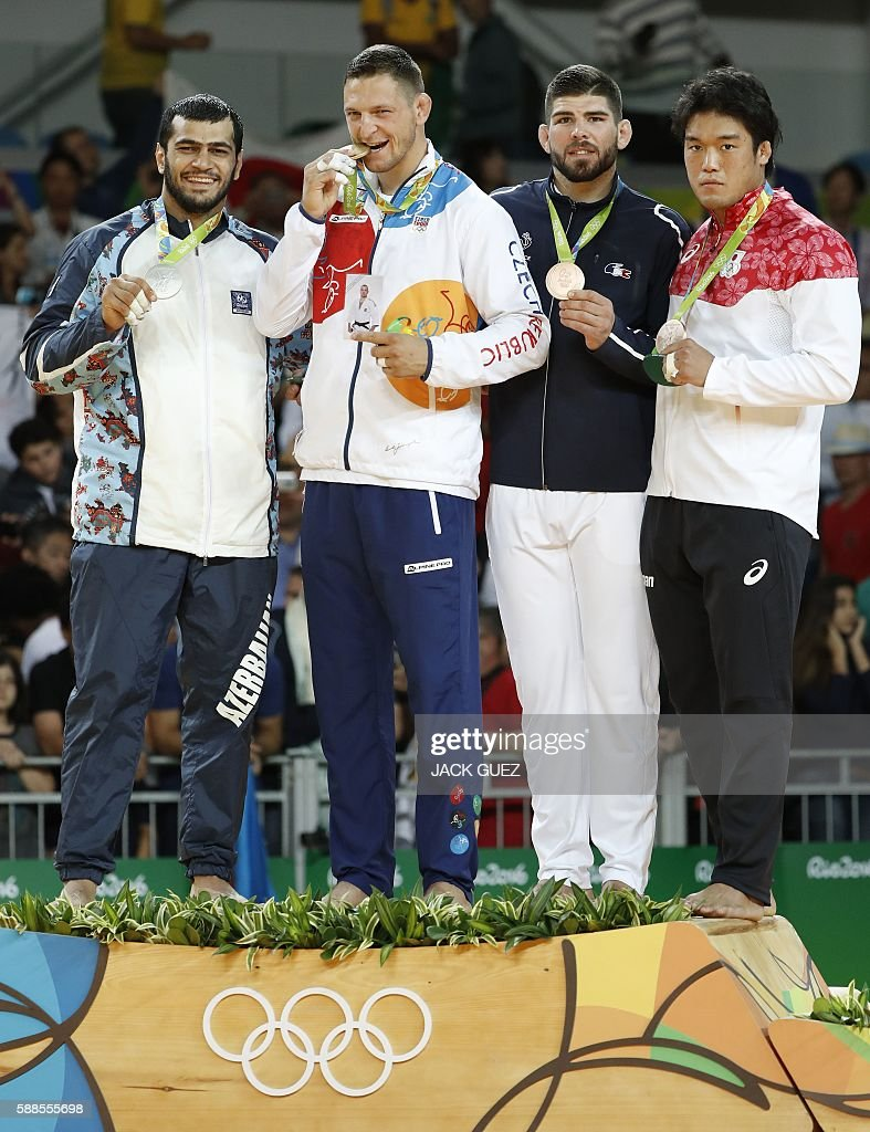 JUDO-OLY-2016-RIO-MEN--100KG-PODIUM : News Photo