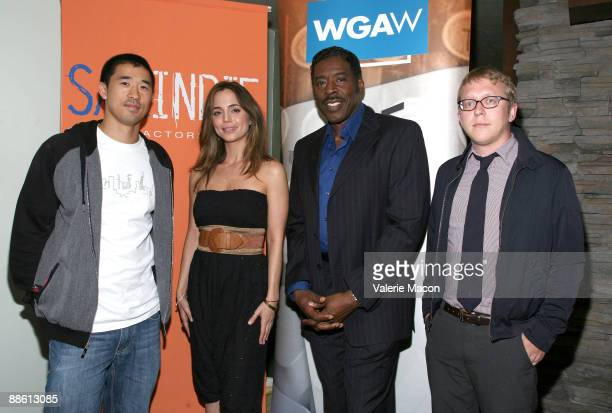 From L to R Alex Tse guest Ernie Hudson Nicholas Jasenovic and Kay Schaber Wolf attend the 2009 Los Angeles Film Festival's SAGIndie and WGA Party at...