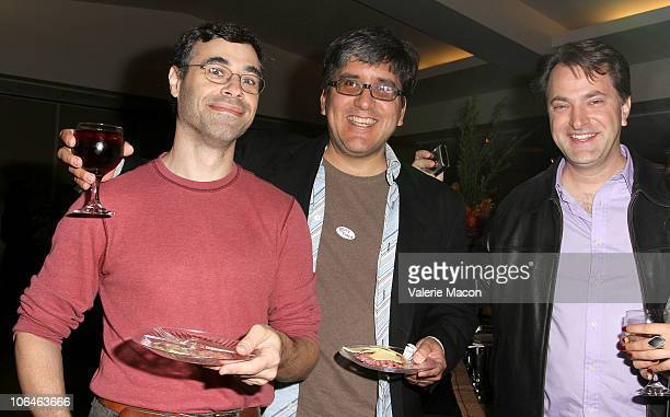 From L to R Daniel Lawrence Cameron Young and Kurt Kuenne attend the AMPAS Presents Perspectives On Screenwriting on November 2 2010 in Beverly Hills...