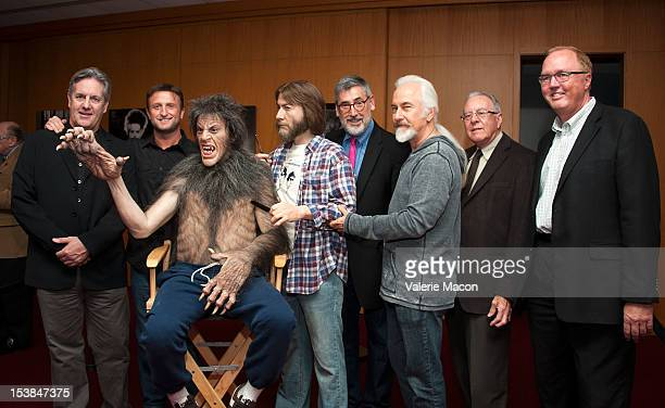 From L to R David Naughton Mike Hill John Landis Rick Baker George Folsey Jr and Randy Haberkamp attend The Academy of Motion Picture Arts and...