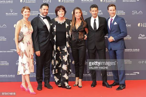 From L to R French actress Cecile Caillaud French actor Alexandre Thibault French actress Anny Duperey French actress Jennifer Lauret French actor...