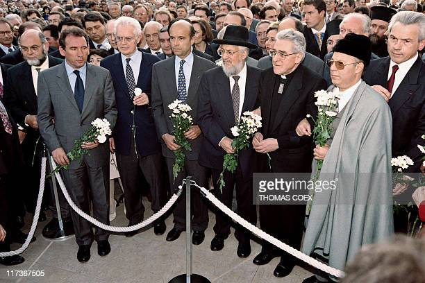 French Communist Party general secretary Robert Hue French Minister of Education François Bayrou PS First Secretary Lionel Jospin French Prime...