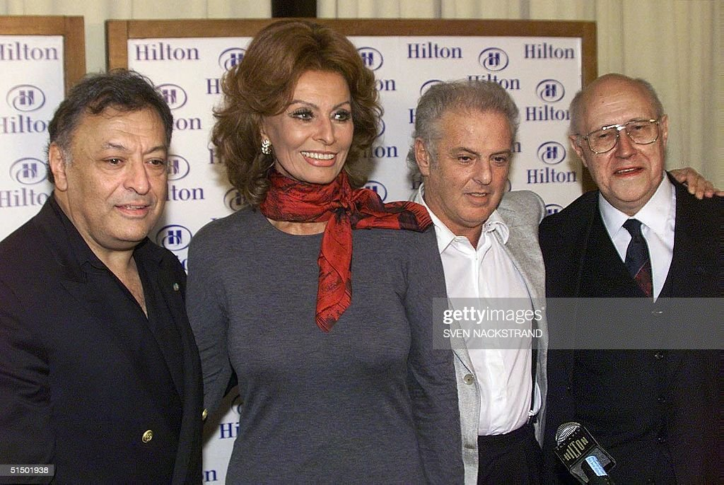 From L to R: Israeli Maestro Zubin Mehta, Italian : News Photo