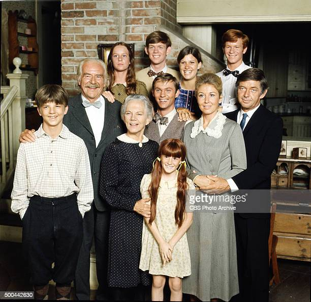 From L to R Mary McDonough Jon Walmsley Judy Norton Eric Scott middle row Will Greer Richard Thomas Michael Learned Ralph Waite bottom row David...