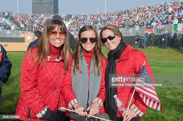 From L to R Melissa Lehman Amanda Caulder and Michelle Mell during the session four singles matches at the 38th Ryder Cup at the Twenty Ten Course at...
